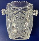 Antique Vintage Crystal Lead Glass Ice Bucket Wine Champagne Cooler Bowl