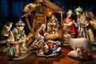 Members Mark Fabric Nativity Porcelain Set 07 Vintage Large 12 Piece Rare Set