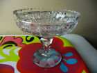 Vintage Cut Glass Crystal COMPOTE Pedestal Candy Dish 6 diameter x 5 tall