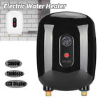 3000W Electric Instant Hot Tankless Water Heater Shower Kitchen Tap Faucet 110V