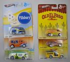 2013 HOT WHEELS GENERAL MILLS POP CULTURE COMPLETE SET OF 6 Real Riders MINT