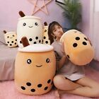 Cute Bubble Tea Cup Shaped Pillow Stuffed Soft Back Cushion Toys For Children