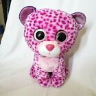 Giant Ty Beanie Boos Glamour Pink & Purple Leopard Plush Stuffed Toy Large 16''