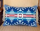 Pillow Cover 14 x 20 Tribal Native home decor WOOL colorful turquoise navy red