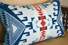 Wool Lumbar Pillow Cover Navy Tribal Native decor contemporary upscale 12x18 NEW