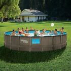 NEW Summer Waves 22ft x 52in Above Ground Swimming Pool W Pump Ladder  Cover