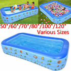 Multiple Kids Baby Children Inflatable Swimming Pool 3 Layer Pool Summer Water F