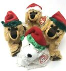 Ty Beanie Baby Christmas Jinglepup Country Variations Tinsle White Plush Lot