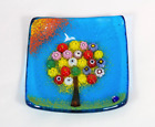 Murano Glass Tree of Life Plate Large Turquoise 5