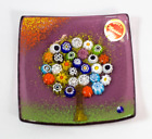 Murano Glass Tree of Life Plate Small Violet 3 1 4