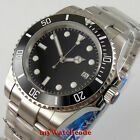 40mm BLIGER black dial flat sapphire glass Japan NH35A Automatic mens Watch