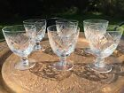 Large wine cocktail cut glass crystal x 6 glasses English crystal 115 cm high