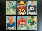 1954 Bowman Football Lot 6 Cards, Fair Condition, Pete Pihos Hall of Fame