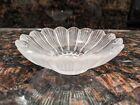 LALIQUE Frosted Crystal Glass Paquerettes Daisy Floral Flower Bowl