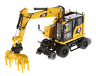 Die cast Masters Caterpillar M323F Railroad wheeled Excavator 1 50 85661
