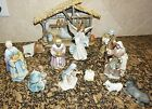 Bethlehem Nights Christmas Nativity Complete 12 Piece Set AVALON GALLERY Pre Own