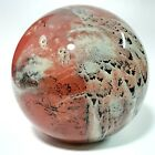 Josh Simpson Paperweight Glass Signed Inhabited Planet Art Glass 71902 Rare