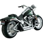 Vance  Hines 17221 Chrome Shortshots Staggered Exhaust System for 86 11 Softail
