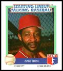 1988 Kenner Starting Lineup Talking Baseball All-Stars Ozzie Smith NM-MT