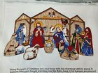 Cotton Qult Fabric Christmas Keepsake Crafts Nativity Scene Panel by 35 x 44