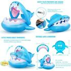 Baby Float Swimming Pool Toddler Floaties With Inflatable Canopy Shark Infant Po