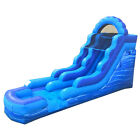 15H Blue Marble Inflatable Kids Water Slide Commercial Jumper Game with Blower