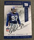 Michael Strahan Signed Autographed Giants Card Auto 2017 Panini
