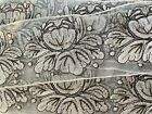 Vintage 1960s Embroidered Pearl Champagne Brown 3 Trim Ribbon 1yd Appliques