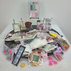 Scrapbooking Stickers Mixed Lot Embellishments Cardboard Punch Outs Arts Crafts