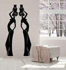 Vinyl Wall Decal African Black Native Women Silhouette Vases Stickers g5522