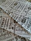 Greaseproof Paper Sheets Deli WrapTasty Words  Design Free Postage Included