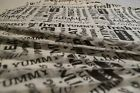 Greaseproof Paper Sheets Printed Tasty Words  Design Free Postage Included