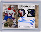 JONATHAN DROUIN 2017-18 UD THE CUP HOCKEY Autograph DOUBLE DUAL PATCH AUTO 19 92