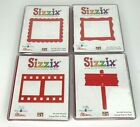 Sizzix Lot of 4 Die Cutter Stencil Frame Filmstrip Wood Sign Large Red Scrapbook