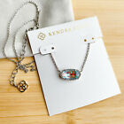 Kendra Scott Dichroic Glass Elisa Pendant Necklace in Silver