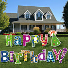 URATOT 15 Pack Happy Birthday Letters Yard Sign Card Colorful Happy Birthday Law