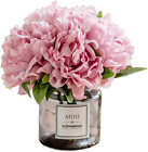 Billibobbi Artificial Flowers with Vase Fake Peony Flowers in Gray VaseFaux F
