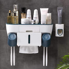 Toothbrush Holder with Automatic Toothpaste Dispenser and Tissue Storage Box Mu