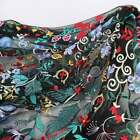 Sewing Colorful Flower Embroidery Lace Fabric Black Mesh Tulle DIY Wedding Dress