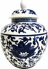 Blue and White Porcelain Helmet Shaped Temple Jar or Vase 3 sizes available