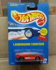 Hot Wheels LAMBORGHINI COUNTACH Red 1991 Blue card GOLD MEDAL SPEED w Gold UHs