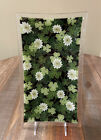 Peggy Karr Fused Glass SHAMROCK  FLOWERS Plate Tray 14 x 8 RARE