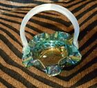 Small Fenton Basket Carnival Glass Collectable PERFECT CONDITION