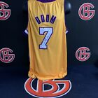 Lamar Odom Los Angeles Lakers Signed Gold Jersey Autographed JSA