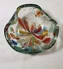 VNTG Murano Art Glass End of Day Bowl Ashtray L12 W24