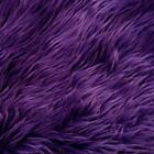 Purple shaggy faux fur pile upholstery fabric by yard