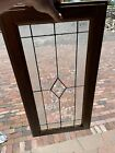 SG3734 vintage textured and beveled glass window 145 x 28