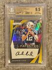 ANDREW LUCK -- 2017 Prizm 'Patented Penmanship' GOLD # 5 -- BGS 9.5 10 -- COLTS