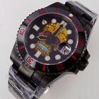 40mm Skeleton dial sapphire glass Japan NH35 automatic mens watch black PVD case