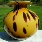 MURANO Vintage Hand Blown Spotted Large Stunning Vase 9H x 9W Labeled